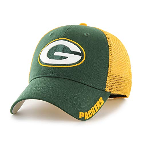 NFL Green Bay Packers Hursh OTS Center Stretch Fit Hat, Dark Green, Large/X-Large