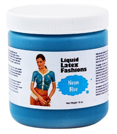 Ammonia Free Liquid Latex Body Paint - 32oz Neon Blue ()