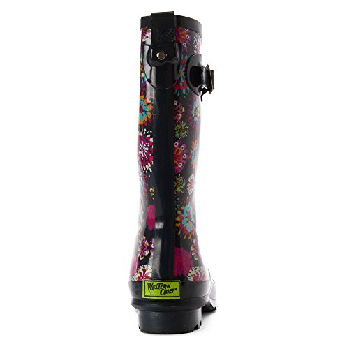Boots Rain Chief Western Tall Girl's Bloom Abstract Navy Classic 0qFqnf