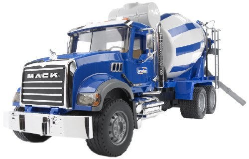 Construction Mixer Truck - Bruder Mack Granite Cement Mixer