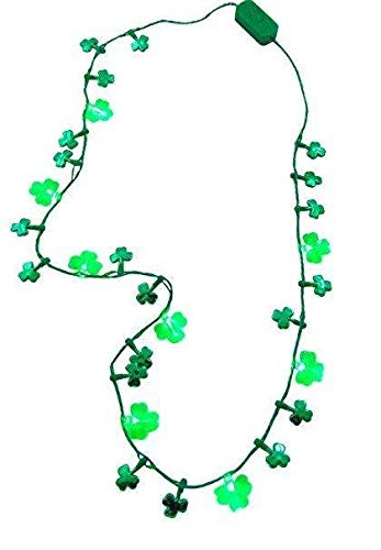 The Electric Mammoth LED Light Up Shamrock Necklace Pendant