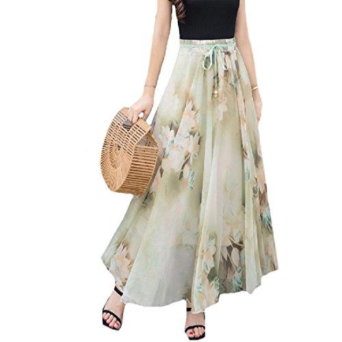 Abetteric Women's Chiffon Summer Bohemian High Hi-Waist Summer Bodycon Long Skirt supplier