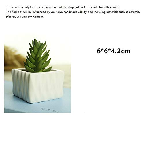 (Allegro Huyer Clay Pots Silicone Planter Mold for Flower Succulent Plants Pot Mould Ceramic Clay Craft Making Tool DIY Concrete Mold)