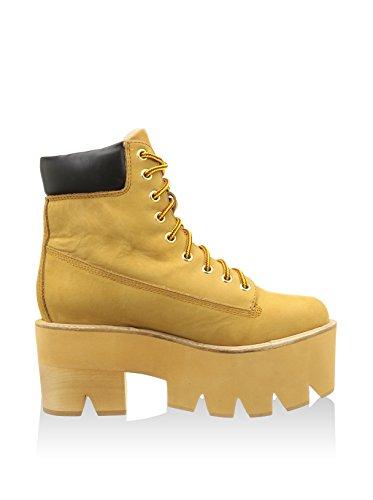 Jeffrey Campbell Nirvana Chuncky Platform Boots amarillo