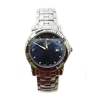 Uhr Longines Damen l3.119.4.96.6 Quarz (Batterie) Stahl Quandrante blau Armband Stahl