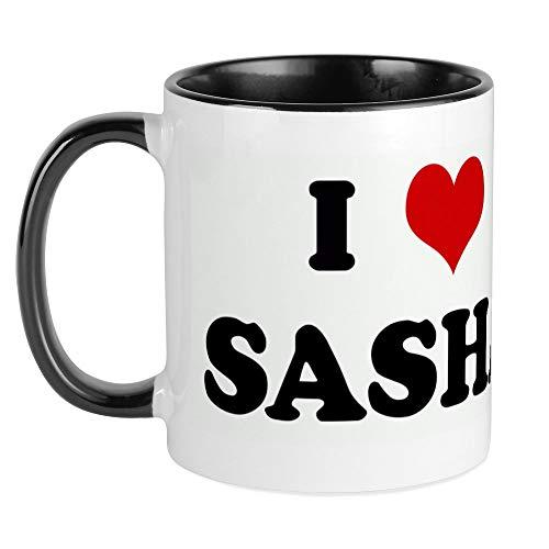 CafePress I Love SASHA Mug Unique Coffee Mug, Coffee ()