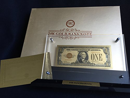 Gold Plated 1928 US novelty money Banknote $1 with gold