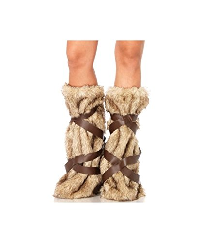 [Barbarian Warrior Womens Leg Warmers deluxe] (Barbarian Warrior Costume)
