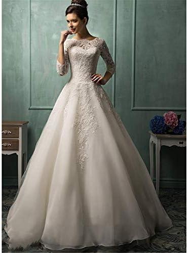 ZZZHS Frauen-Hochzeits-Kleid, Abend-Ballkleid-Langer A-line-Chiffon- Prinzessin Bride Wedding Bridesmaid Dress Rock für Abschlussball, Abend-Party-Cocktail-Hochzeit