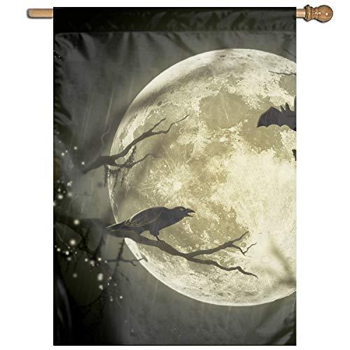 Calibre Life Halloween Moon Clip Art Welcome Garden Flag Vertical Outdoor & Indoor -