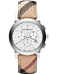 The City Silver Dial Haymarket Check Fabric Unisex Watch BU9360