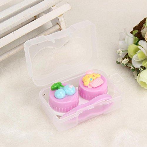 Cute Food Shape Travel Portable Contact Lens Lenses Container Case ,Tuscom 1 pcs contact lens case (6x 4x2.5cm, (Cheap White Contact Lenses)