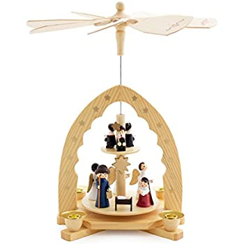 Amazon christmas decoration pyramid 18 inches nativity play 3 brubaker christmas pyramid 12 inches nativity play christmas scene under the christmas tree handpainted figures limited edition designed in solutioingenieria Gallery