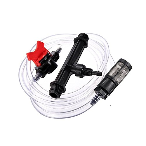 "Hanperal 3/4"" Garden Irrigation Device Venturi Fertilizer Injector Switch Water Tube Kit"
