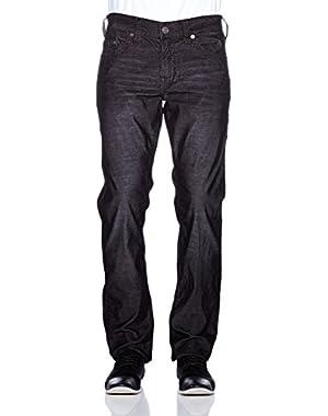 Men's Geno Slim Fit Corduroy Pants in Black