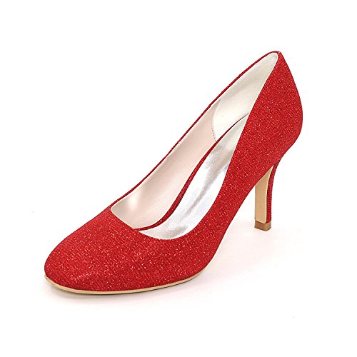 L@YC Women's Wedding Shoes Heels/Platform Heels Wedding/Party and More Colors Available at Night Red