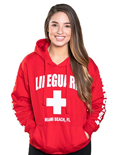 (LIFEGUARD Official Ladies Miami Hoodie Red Small)