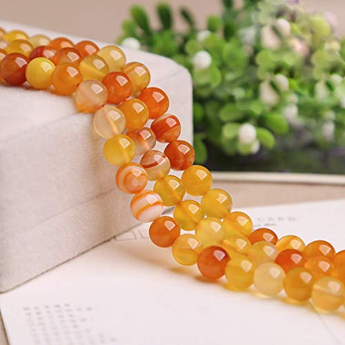 Natural Agate Beads 4mm 92 PCS Crack Smooth Surface Gemstones Crystal Round Loose Beads for DIY Bracelet Necklace Earring Jewelry Making Craft Gift,1 Strand 15