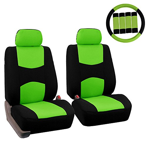 neon green bucket seat covers - 4