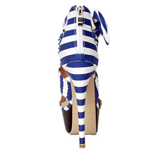 Mujer Pantuflas Kolnoo Caña Alta De Azul vIrd1ydag