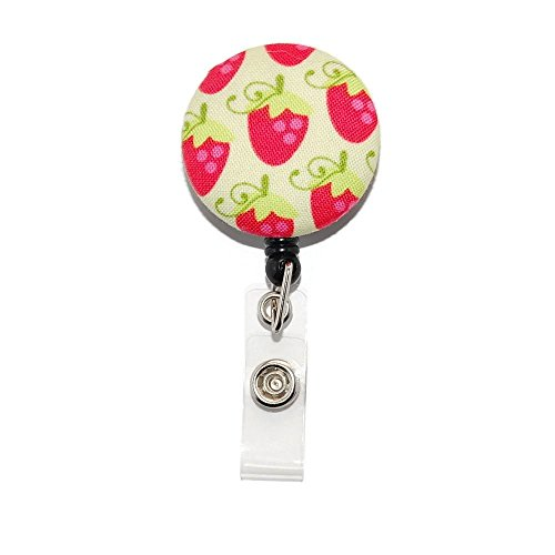 Strawberries Badge Reel Retractable for ID or Key Card Free Shipping