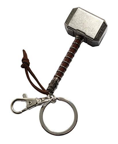 Thor Ragnarok Movie: Thor Hammer Pewter Keyring]()