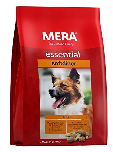 MERA essential Hundefutter > Softdiner < Für ausgewachsene Hunde mit hohem Aktivitätsniveau – Mix-Menü Trockenfutter mit…