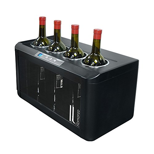 Vinotemp VNTIL-OW004 II Romanzo 4-Bottle Open Wine (Vinotemp Wine Cooler)