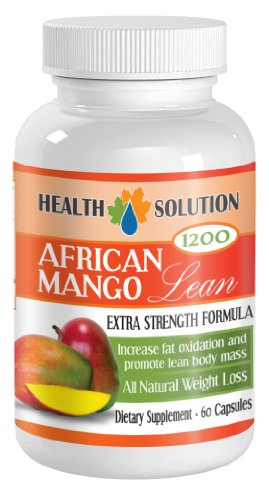 Fat burner for weight loss - AFRICAN MANGO EXTRACT (1200Mg) - African mango plus - 1 Bottle 60 Capsules by Health Solution Prime