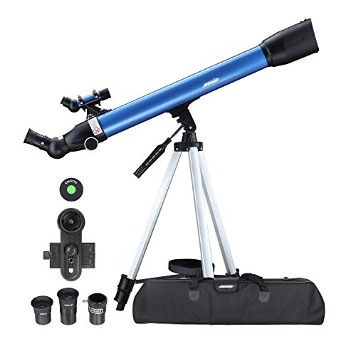 AOMEKIE Telescopes for Adults Astronomy Beginners Kids 234X Magnification Travel Telescope with Phone Mount Case and 3X Barlow Lens