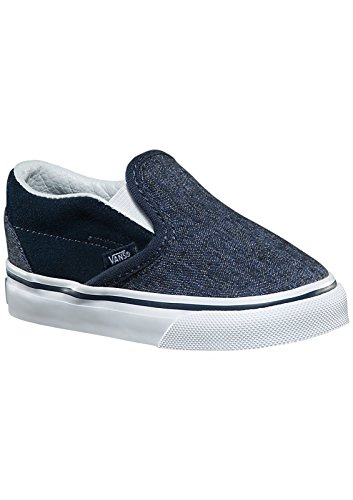 VANS TODDLER T SLIP ON SUEDE AND SUITING DRESS BLUE SIZE 9