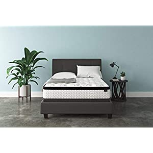 Ashley Furniture Signature Design – 12 Inch Chime Express Hybrid Innerspring – Firm Mattress – Bed in a Box – Queen – White