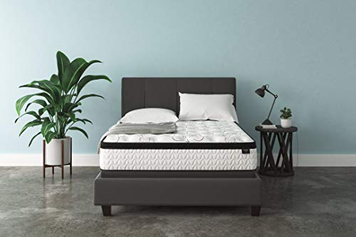 Ashley Furniture Signature Design - 12 Inch Chime Express Hybrid Innerspring - Firm Mattress - Bed in a Box - Queen - White 2 Mil White Polyester