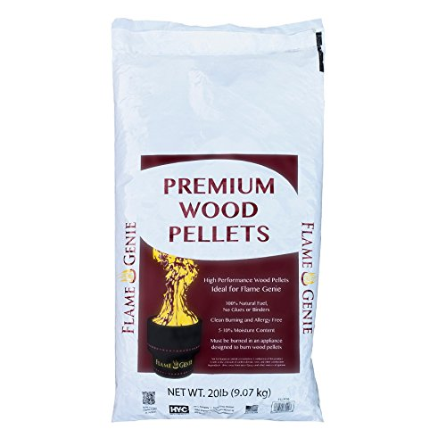 Flame Genie FG-P20 Premium Wood Pellets for Fire Pits, 20 Pound Pack, Black Review