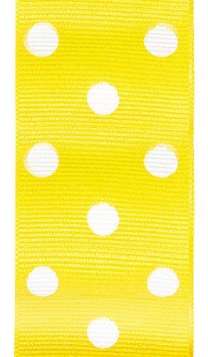 Offray Polka Dot Grosgrain Craft Ribbon, 1-1/2-Inch Wide by 50-Yard Spool, Maize by Offray   B001F72XY8