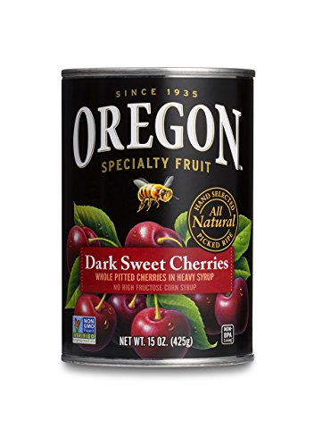 Oregon Fruit Pitted Dark Sweet Cherries in Heavy Syrup, 15-Ounce Cans (Pack of 8)