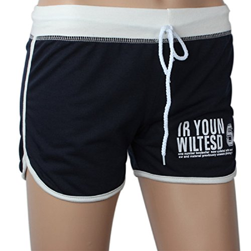 Cotton Sport Occasionnelle Course Slim Chauds De Mini Pantalons Femmes Bleu Marine Amlaiworld Plage Shorts Sexy EXxwpnCqB