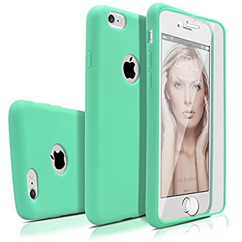 iPhone 6s Plus Case, MagicMobile Premium [Full-Body Coverage] Protective Thin Soft TPU Case for Apple iPhone 6s Plus (5.5'-inch) with Built-In Flip Clear Screen Protector (Turquoise)