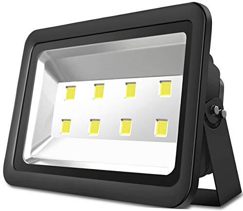 Atoechie Black 400W Outdoor LED Flood Light, Cool White Light 6000k, Super Bright 40,000lm, 50,000hrs Liftetime, Waterproof IP65, Landscape Lighting ()