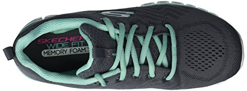 Skechers Connected Women's Green Sport Trim Charcoal Get Graceful vII8wqr
