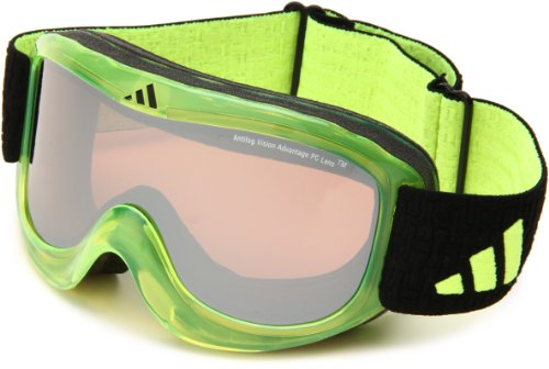 adidas Pinner A183-50-6054 Shield Sunglasses,Lime Frame/LST Active Silver Lens,One Size