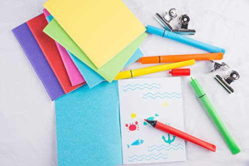Blank Book - 48-Pack Colorful Notebooks, Unlined Plain Travel Journals for Students, Kids Diaries, Creative Writing Projects, 6 Assorted Colors, 4.25 x 5.5 Inches, 24 Sheets by Paper Junkie (Image #2)