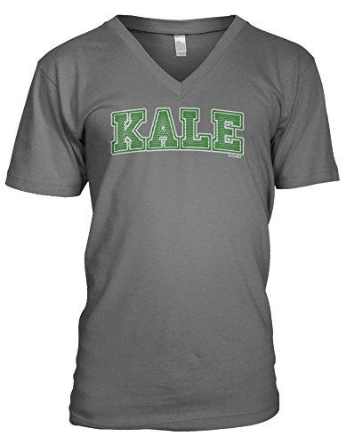 Kale Men's V-Neck T-shirt (Large, CHARCOAL)