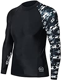 Men's Splice UV Sun Protection UPF 50+ Skins Rash Guard Long Sleeves