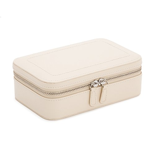 WOLF 392253 Sophia Zip Case Jewelry Box, Ivory