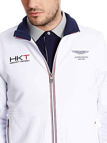 Sweat Homme London Hackett Fzip Zippe Amr Blanc Pour xx6Twp