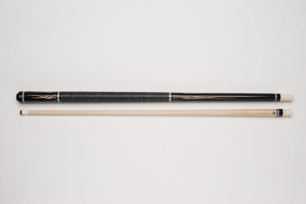Demon DF1-002 Billard-Queue f/ür Poolbillard Leinen-Griffband inkl Vollholz-Oberteil mit Qualit/äts-Klebeleder Gewindeschoner 2-teilig