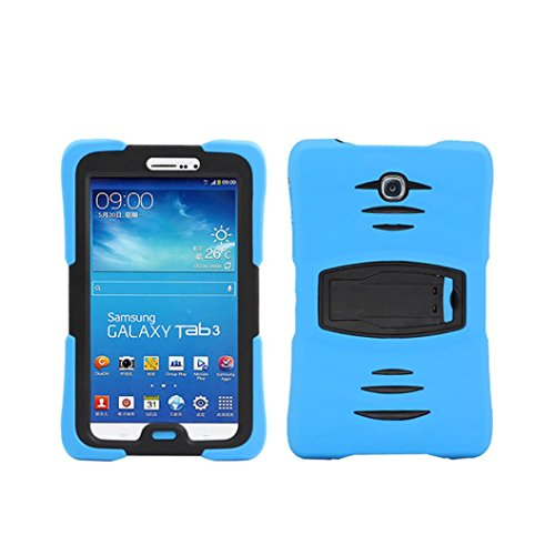 DZT1968 Durable Rubber Waterproof 7inch Hard Case Cover Stand Holder For Amazon Kindle Fire HD 7 2015 (Blue) by DZT1968