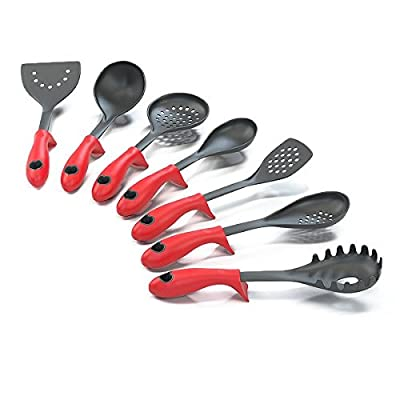 Kitchen Cooking Utensils and Gadgets with Built-in Stand, Turner Spoon Spatula and Ebook from Silicone Designs