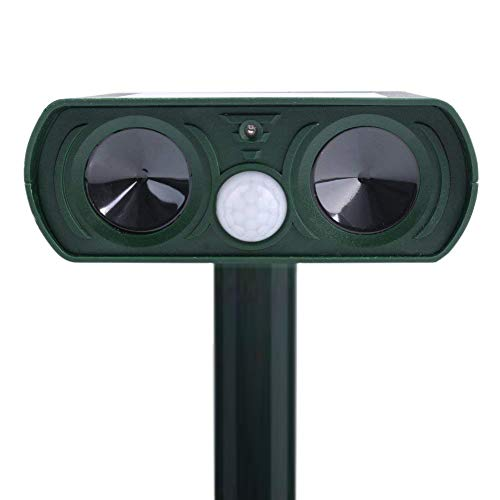Ultrasonic Outdoor Animal and Pest Repeller Infrared Drive - Solar Power Garden Lawn Park Protector - Electronic Bird Cat Dog Snake Wild Boar Rabbit Repeller - LOVIN